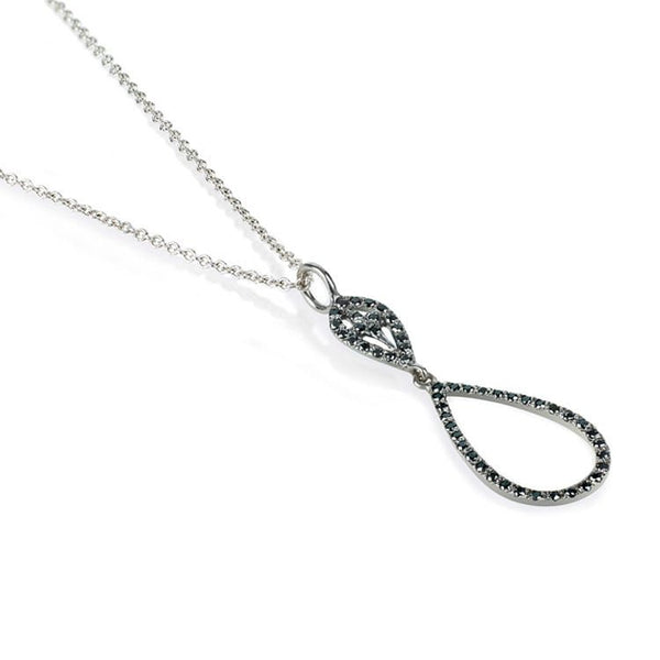 Black diamond necklace