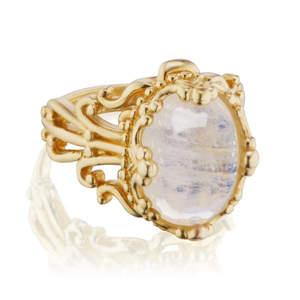 Gothic Moonstone Ring
