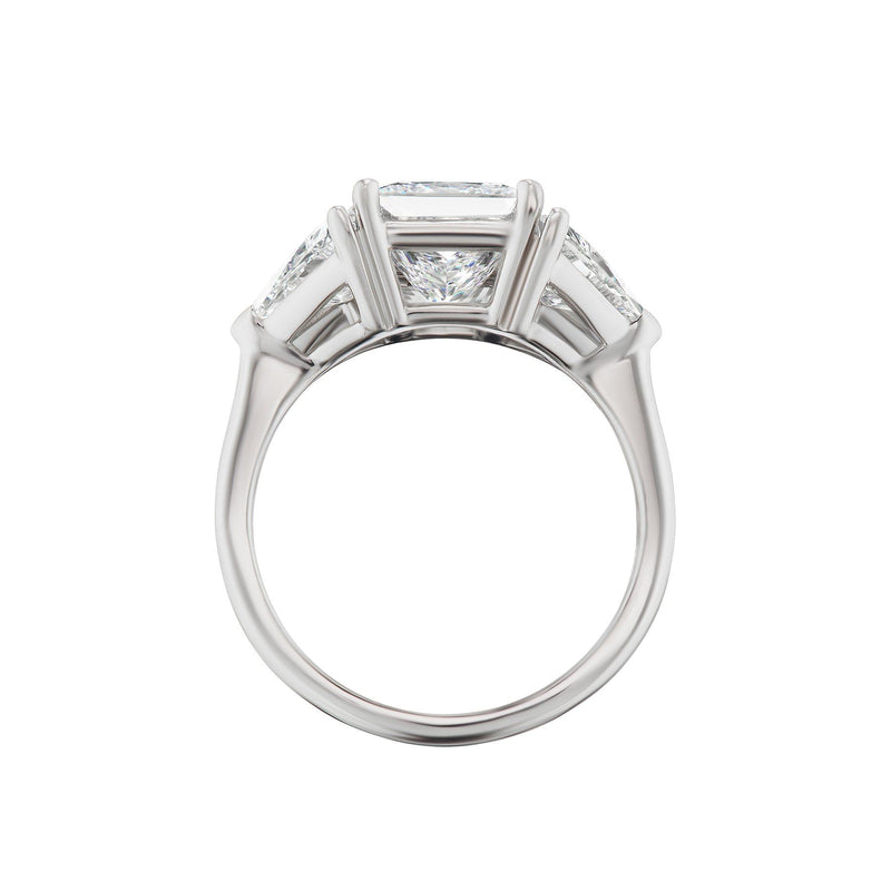 Princess Cut Diamond Engagement Ring Side View