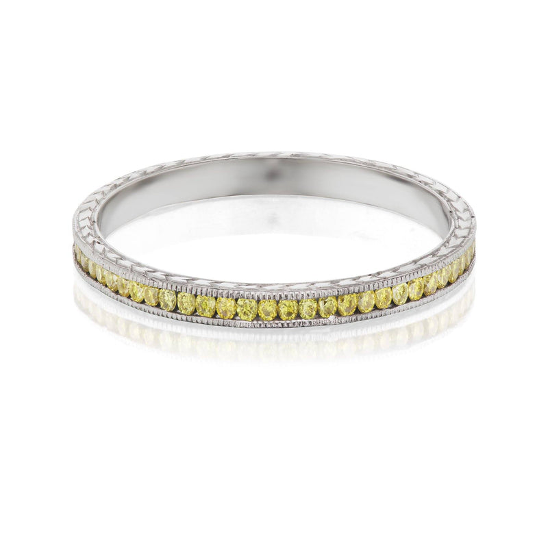 canary yellow diamond band