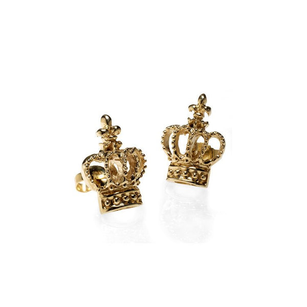 Gothic crown stud earrings