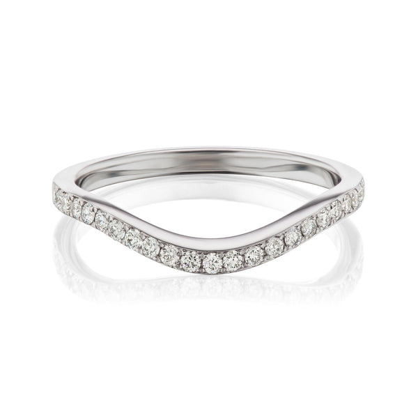 Curved Pave Diamond Band