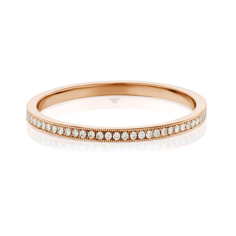 pave diamond wedding band rose gold
