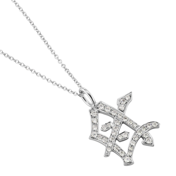 Diamond 'Mother' Kanji Symbol Necklace
