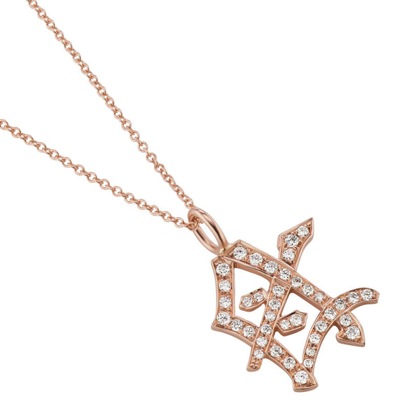 Diamond Mother Kanji Symbol Necklace