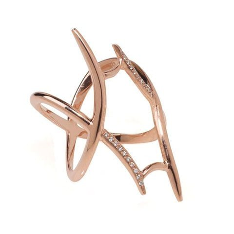Edgy rose gold knuckle ring
