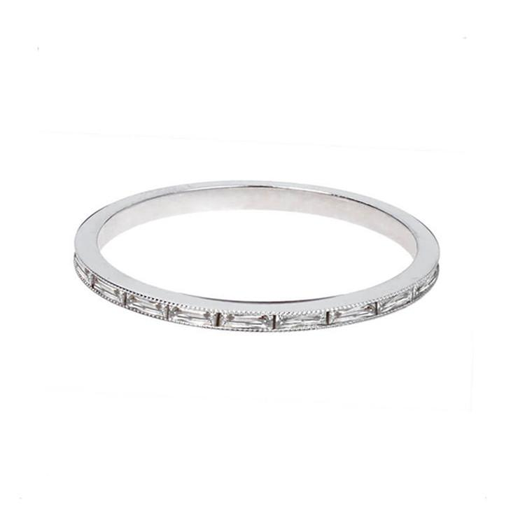 French Cut Diamond Baguette Band