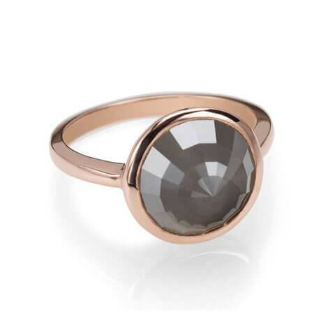 Grey diamond rose gold ring