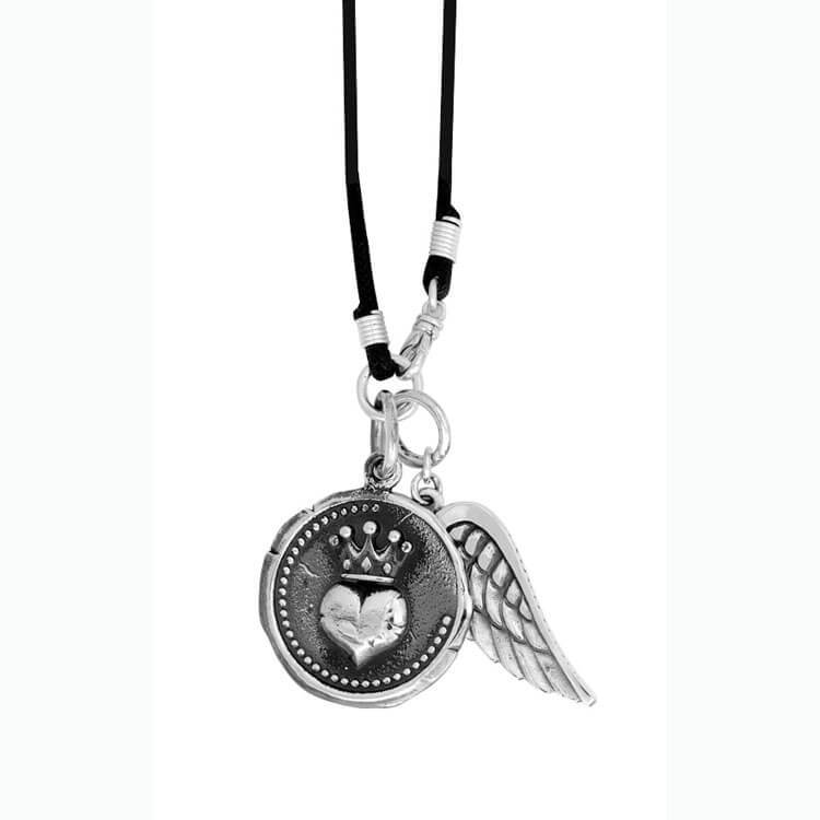 King Baby Heart with Wing Necklace