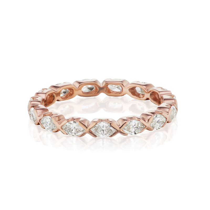 marquise diamond band rose gold
