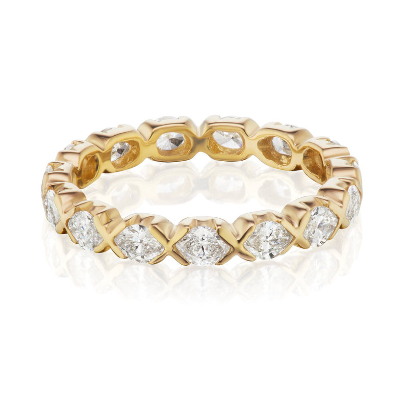 marquise diamond band yellow gold