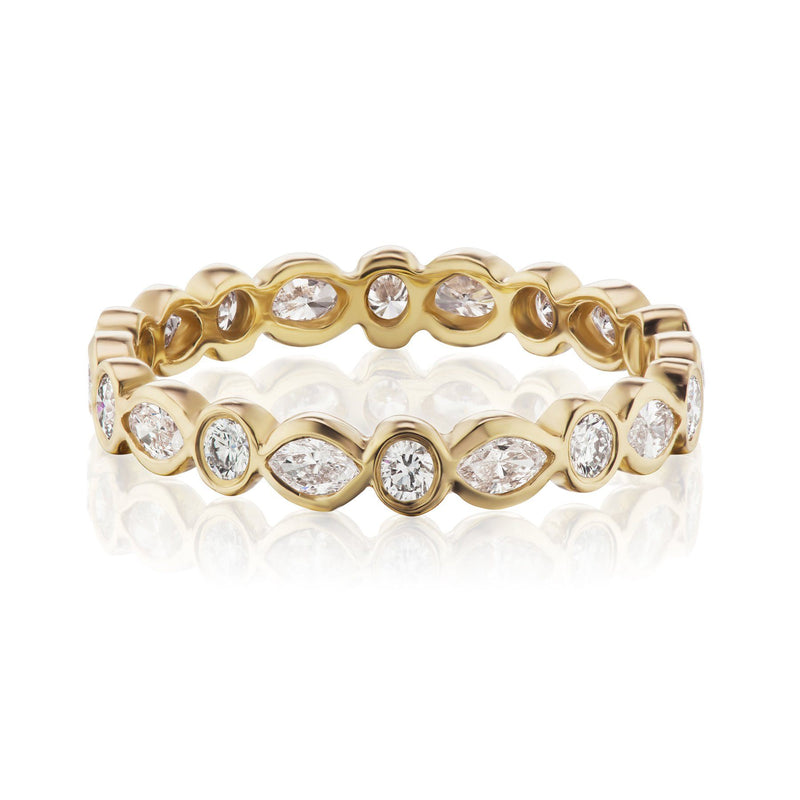marquise and round diamond band