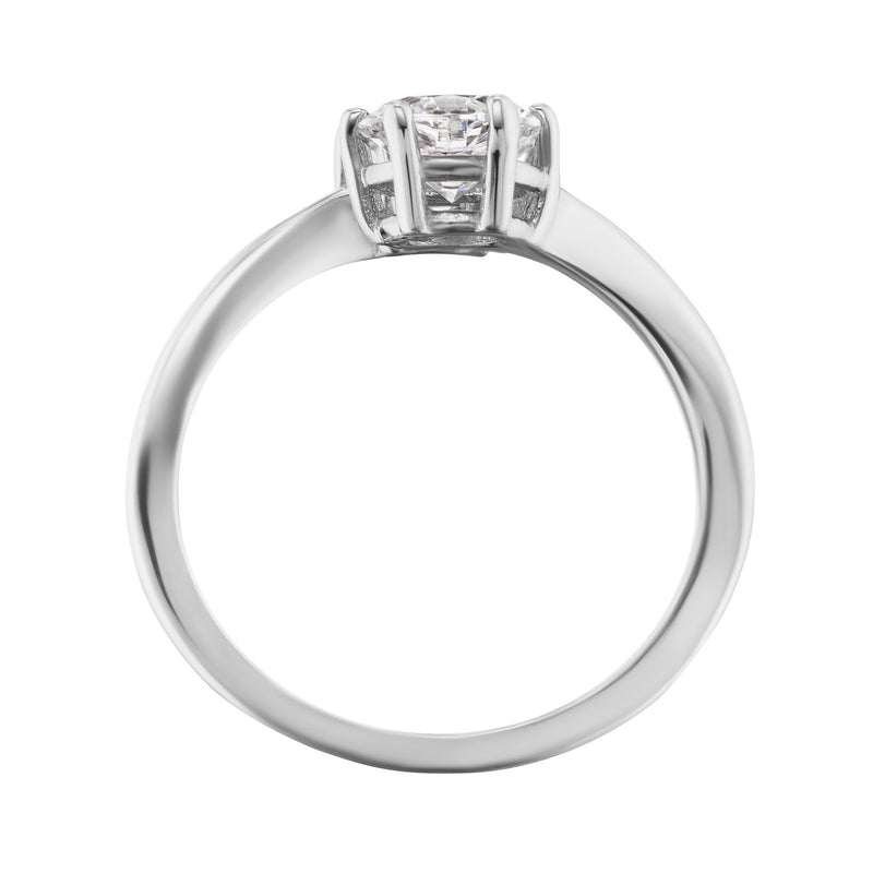 two diamond engagement ring side view
