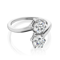 Two Diamond Engagement Ring