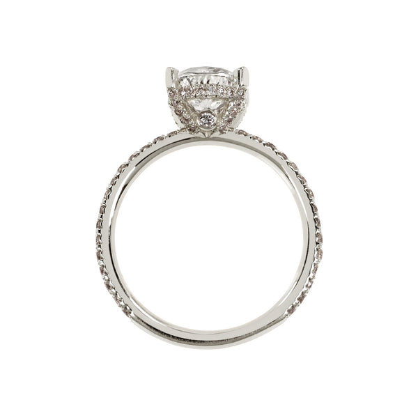 Oval Engagement Ring with Cathedral Setting side view