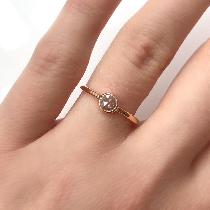 Rose Cut Diamond Bezel Ring