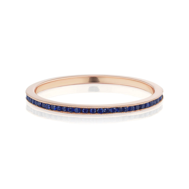 Sapphire Eternity Band in Rose Gold