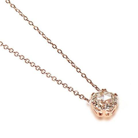 Rose gold diamond necklace. Vintage necklaces