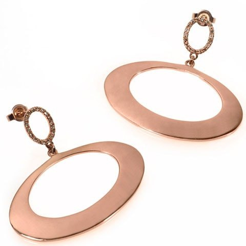 Designer Rose Gold Earrings