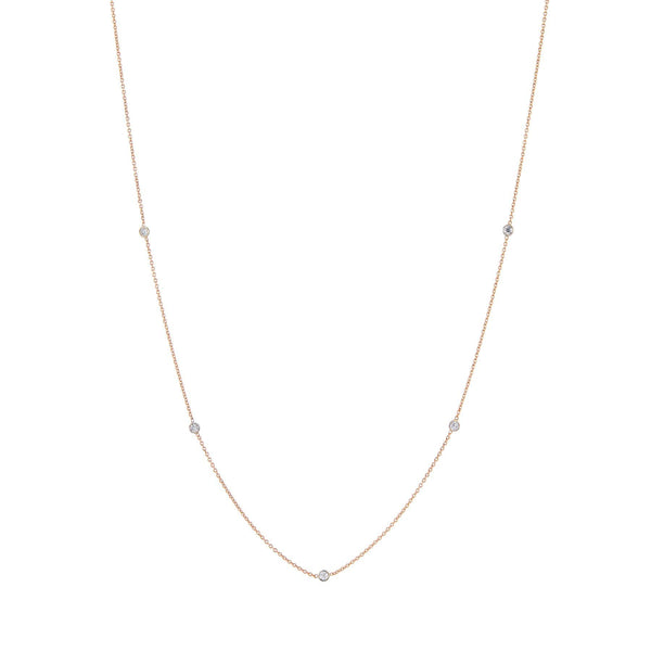 Rose gold diamond chain