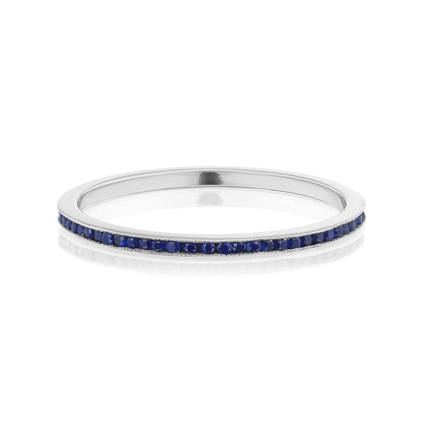 Sapphire Eternity Band in White Gold