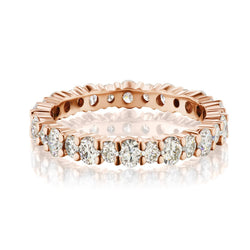 Rose Gold Shared Prong Diamond Band