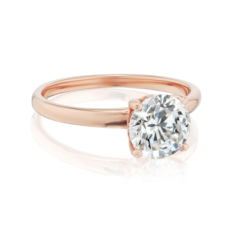 Solitaire Diamond Ring Rose Gold