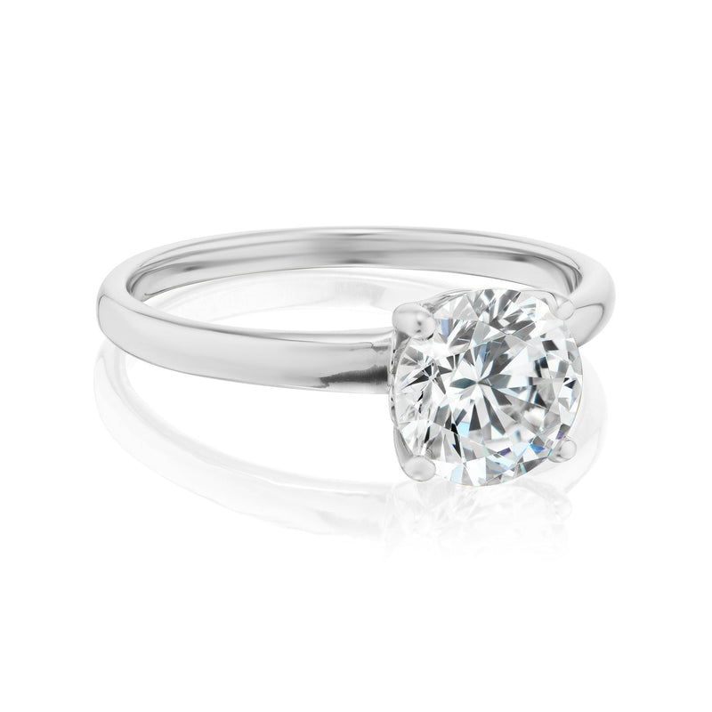 Solitaire Diamond Ring White Gold