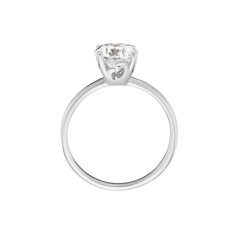 Solitaire Diamond Ring White Gold Side View
