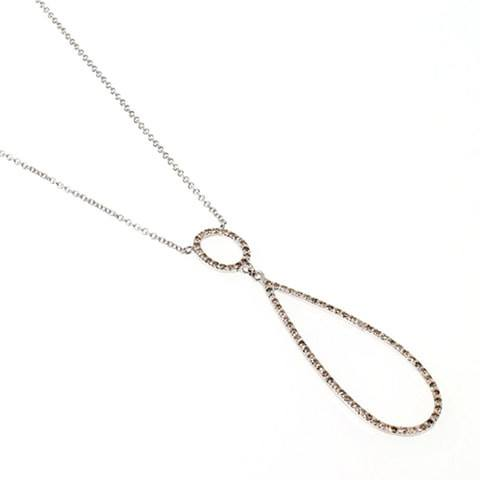 Designer diamond necklace with pave diamonds