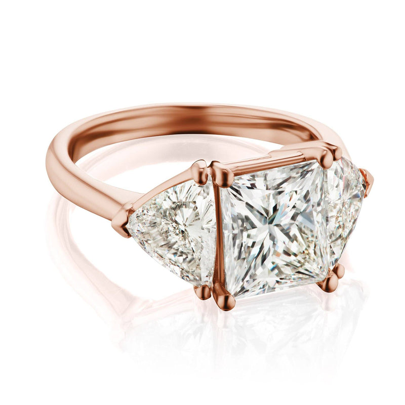 Princess Cut Engagement Ring Rose Gold