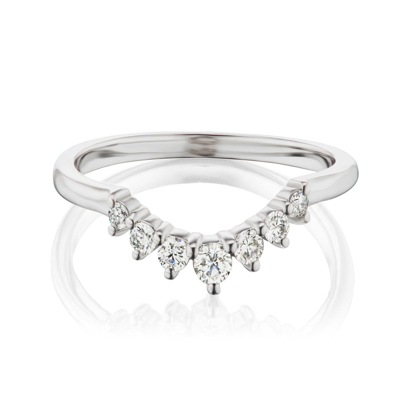 Tiara Diamond Wedding Band