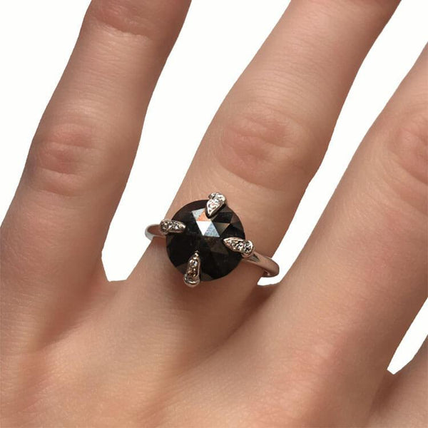 Black Diamond Claw Ring