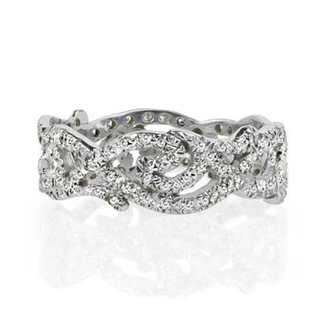 Vine diamond wedding band