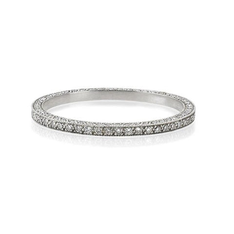 Vintage Eternity Band With Pave Diamonds