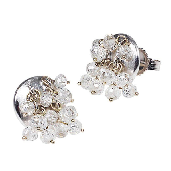 Diamond bead earrings
