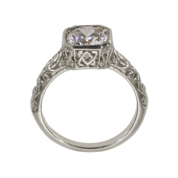 Antique Inspired Engagement Ring side view