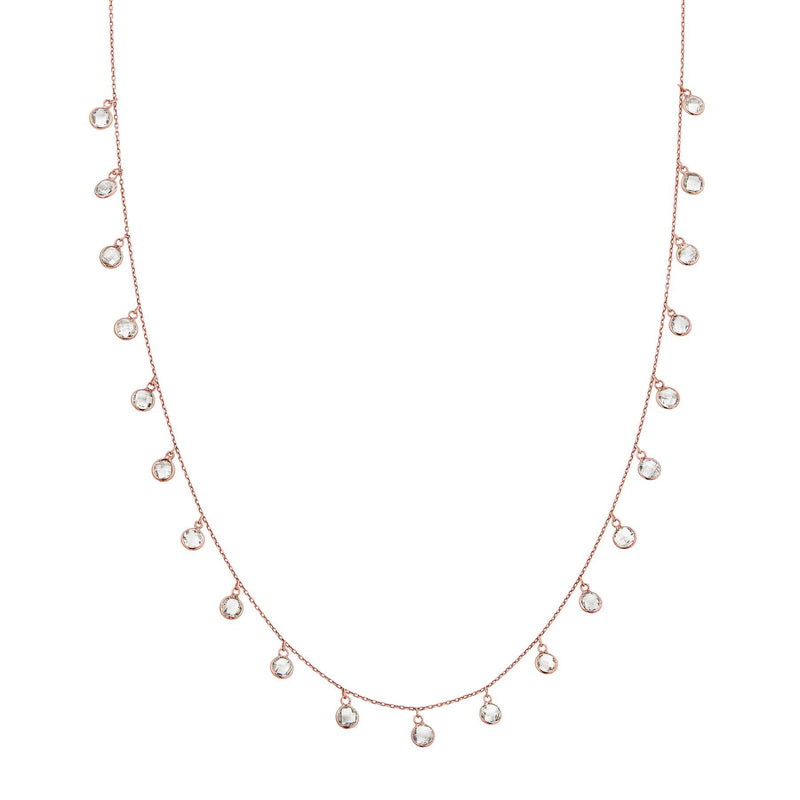 rose gold white topaz chain