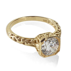 Vintage reproduction engagement ring