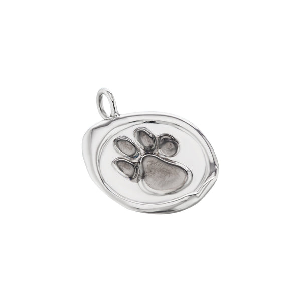Sterling Silver Paw Pendant For Your Dog