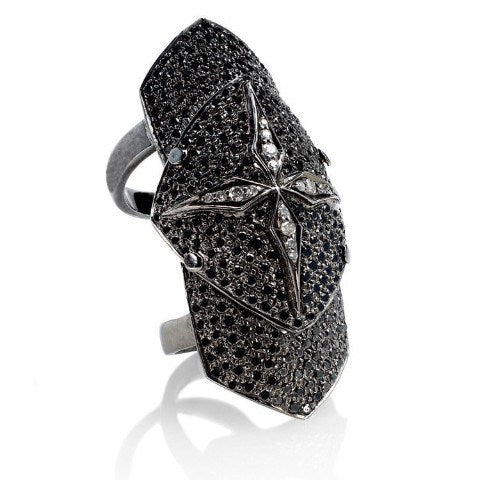 Black diamond armor ring