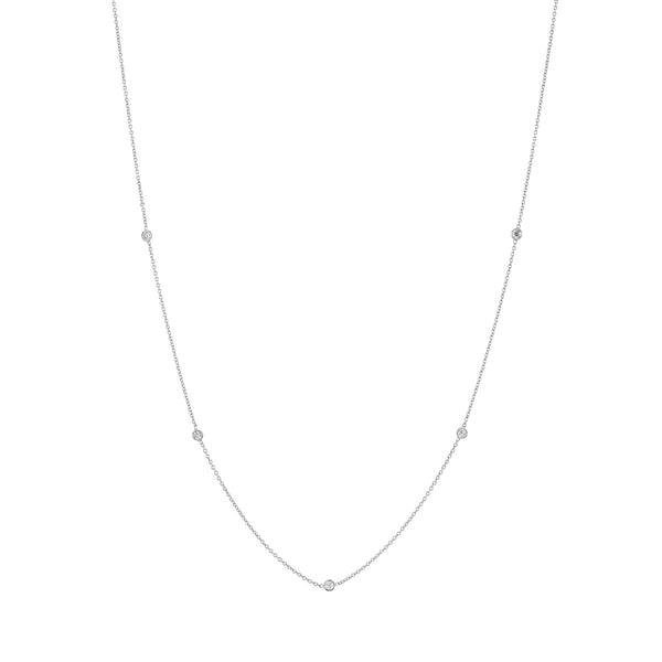White gold diamond chain