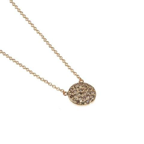 Diamond disk necklace