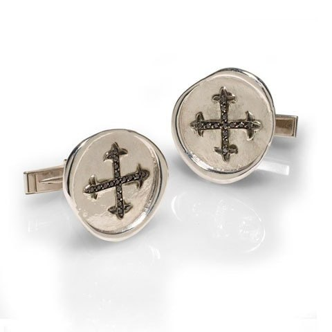 Unique black diamond cufflinks