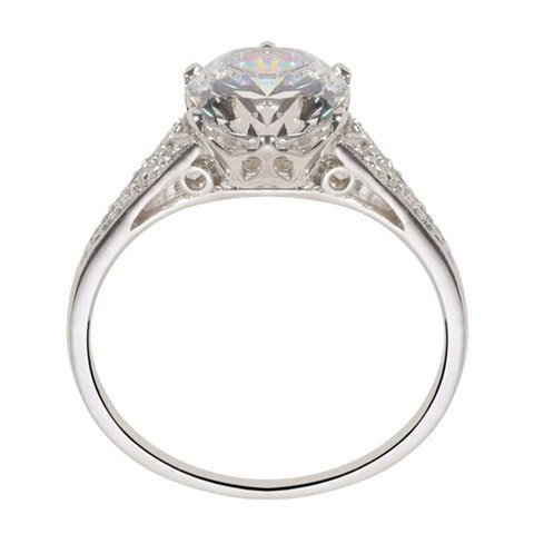 Vintage engagement ring side view