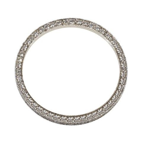 Vintage eternity band pave diamonds on sides