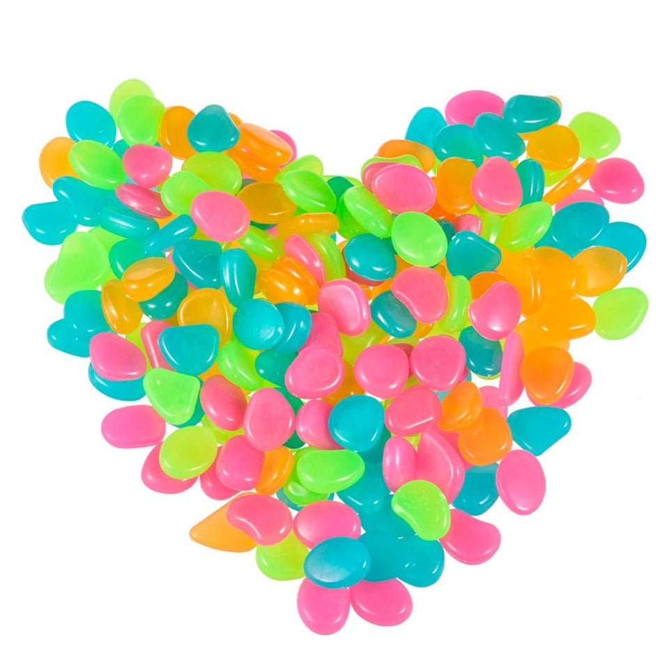 50Pcs Glow in the Dark Garden Pebbles