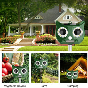 Outdoor Ultrasonic Solar Pest Repellent with Speaker