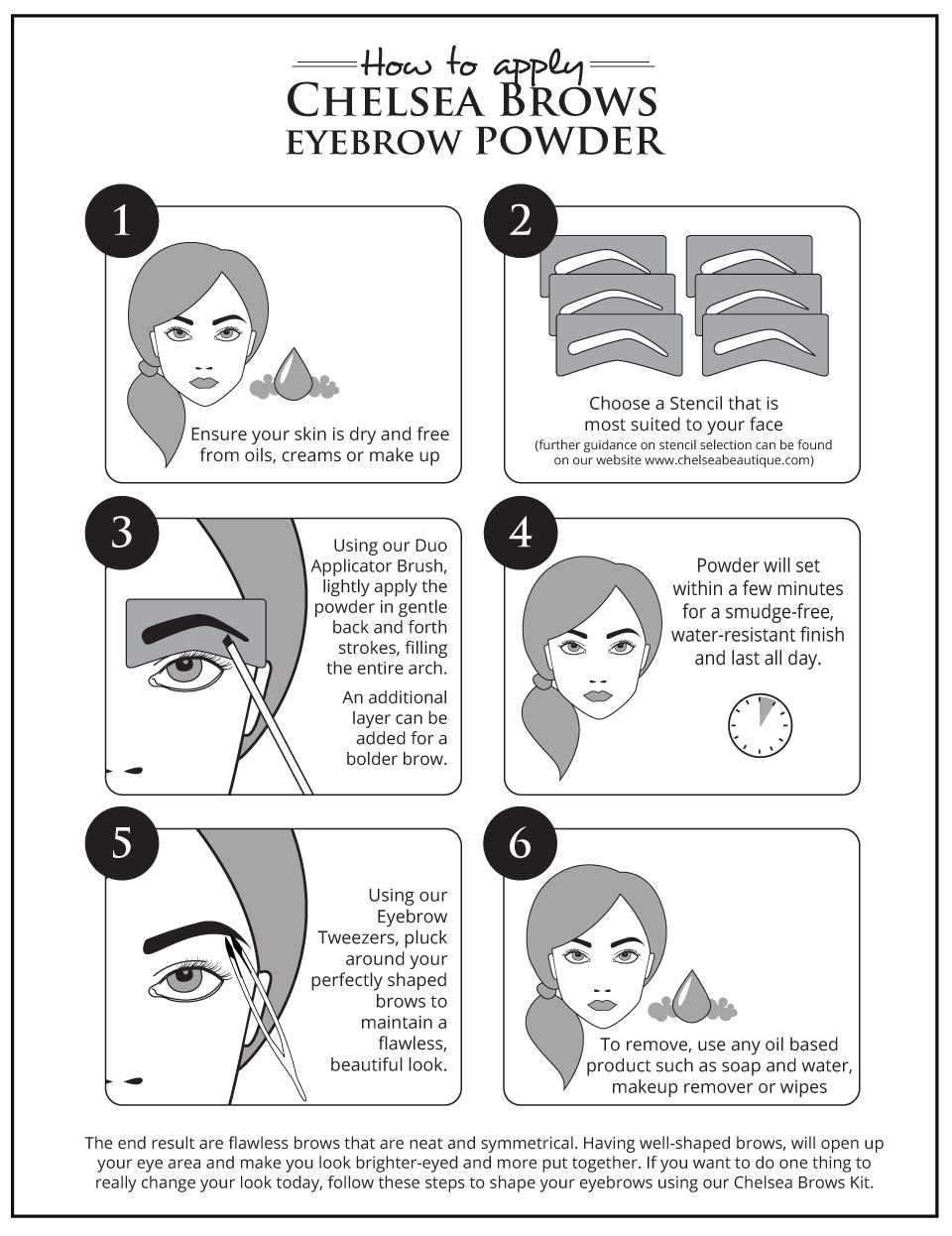How To Use Eyebrow Stencils Eyebrow Powder For Flawless Brows