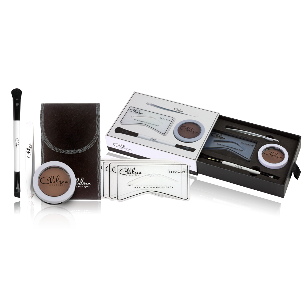 Brow Kit Easy To Use Contains Stencils Eyebrow Powder Brushes